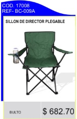 Sillon de director plegable