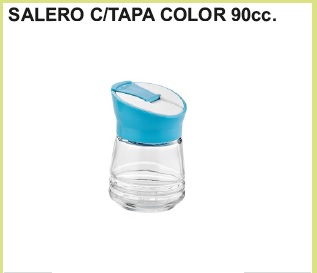 Salero c/tapa color 90 cc.