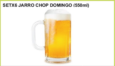 Set  x 6 jarro chop domingo (550 ml.)
