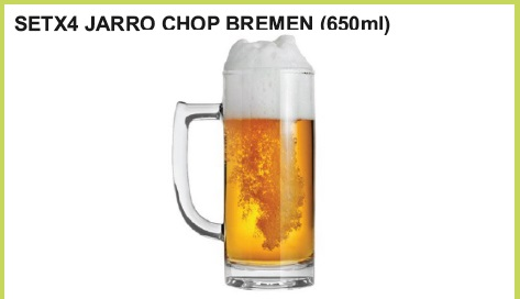 Set x 4 jarro chop bremen (650 ml.)