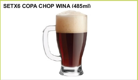Set x 6 copa chop wina (485 ml.)