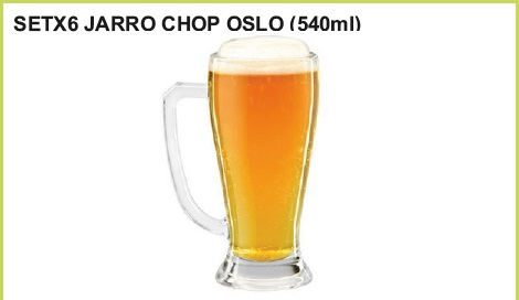 Set x 6 jarro chop oslo (540 ml.)
