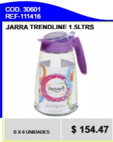 JARRA C/TAPA COLOR 1.5LTS 111416
